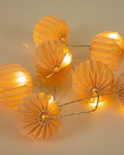 Yulia roze koord LED-lampjes 10 cm