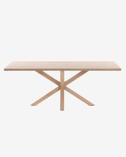 Argo table 160 cm natural melamine wood effect legs
