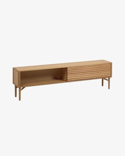 Mueble TV Lenon 200 x 57 cm de madera maciza y chapa de roble FSC MIX Credit
