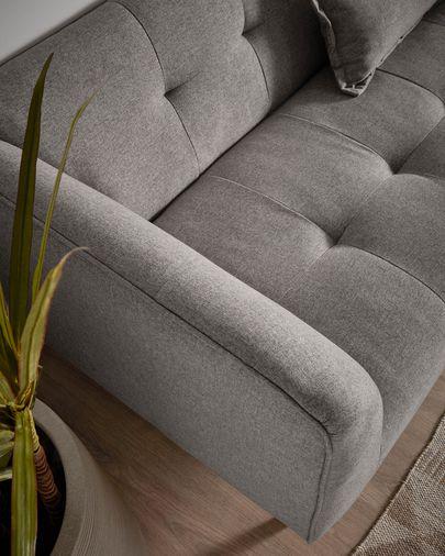Sofà Saffron 3 places gris 200 cm