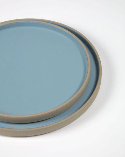 Midori ceramic dessert plate in blue