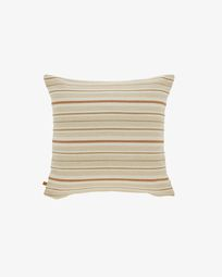 Sydelle striped beige cushion cover 45 x 45 cm