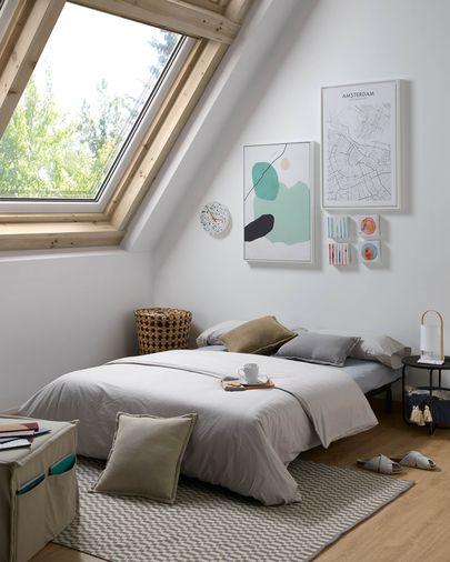 Sofá cama Lyanna 140 cm gris
