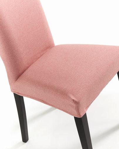 Chaise Freda rose et noir