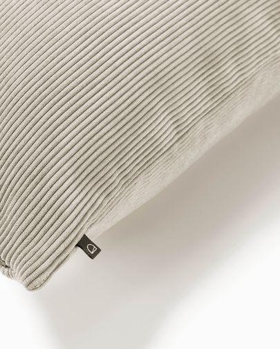 Taupe corduroy Namie cuchion cover 45 x 45 cm