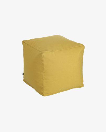 Nedra quadratischer Pouf 50 x 50 cm, senfgeklb