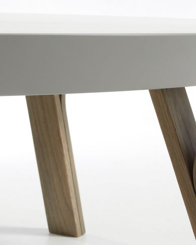 Grey and oak Dilos coffee table Ø 90 cm