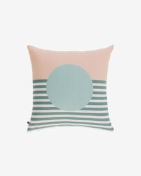 Glendale green cushion cover with circle 45 x 45 cm