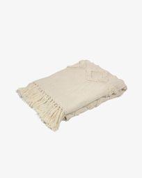 Manta Xayoxhira 100% cotó blanc 130 x 170 cm