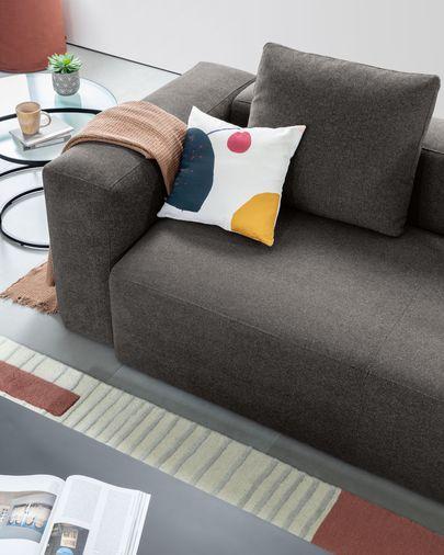 Blok 3-sitzer Sofa 240 cm, grau