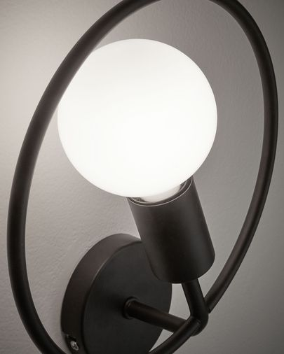 Rohme wall lamp in black