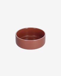 Roperta small porcelain bowl in terracotta
