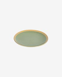 Tilla ceramic dessert plate in light green