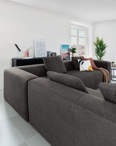 Blok 6-seater corner sofa in grey 320 x 320 cm