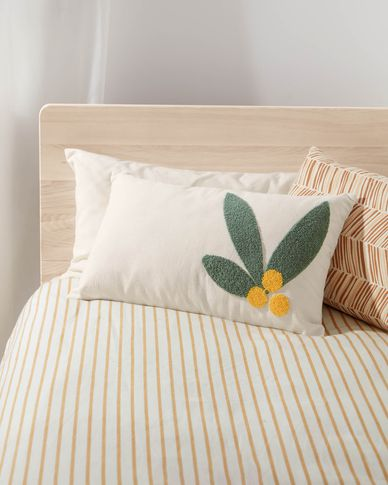 Uriana 100% cotton cushion cover in beige 30 x 50 cm