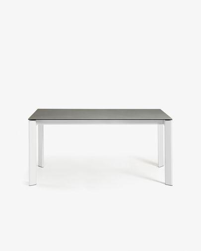 Axis uitschuifbare tafel 140 (200) cm  porselein afwerking Hydra-draad wit benen