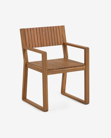 Emili solid acacia garden chair