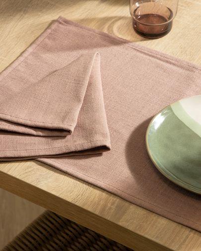 Pink Samay 4-napkin set