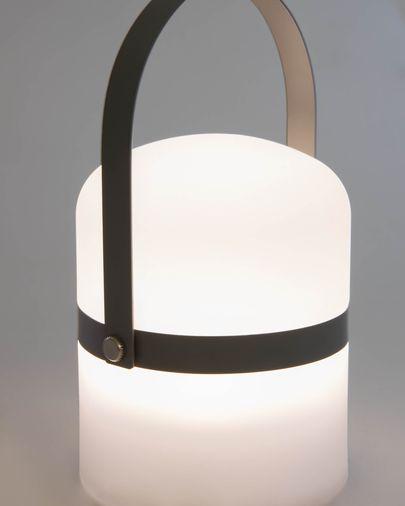 Làmpada de sobretaula LED mini Ridley polietilè gris