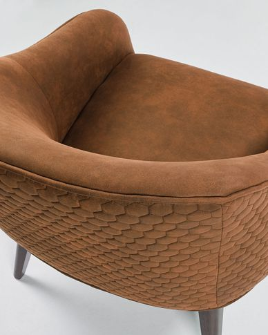 Brrown Bobly armchair wenge finish legs
