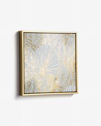 Schilderij Ibisco 40 x 40 cm geel