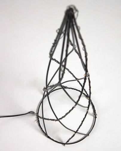 Set Shirly de 3 conos árbol luminoso metal negro