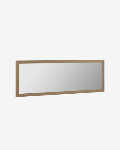 Wilany wide frame with walnut finish mirror 52,5 x 152,5 cm