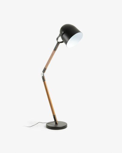 Lámpara de pie Palais de acero y madera de haya