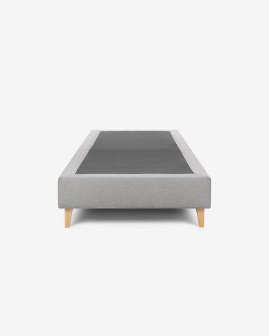 Base letto alta Nikos 90 x 190 cm grigio