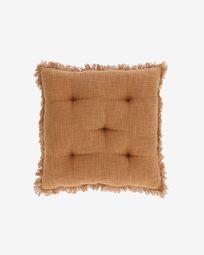 Coixí per cadira Brunela 100% cotó marró 45 x 45 cm