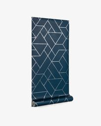 Behang Gea blauw en zilver 10 x 0,53 m