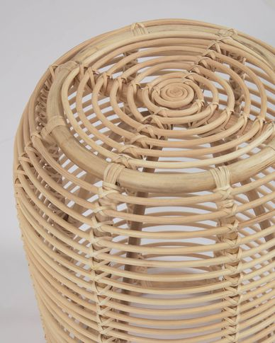Round Kohana side table in rattan with natural finish Ø 45 cm