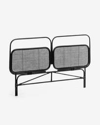Hoofdbord Margaret 170 x 120 cm zwart