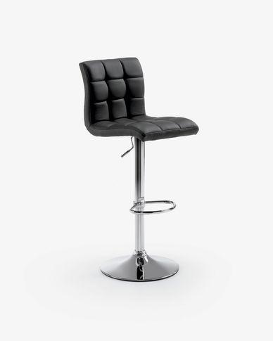 Tabouret Crema noir hauteur 60-81 cm