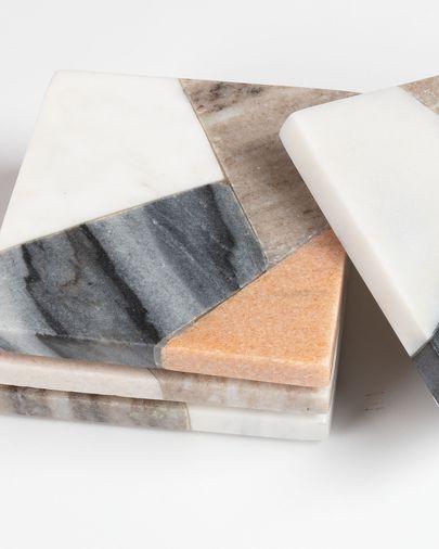 Setembre 4 posagots quadrats Bradney marbre multicolor