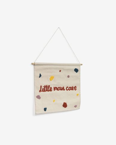 Nerta 100% cotton little man cave wall tapestry, multi-coloured 35 x 45 cm