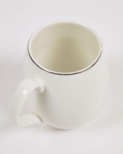 Taza Taisia de porcelana blanco