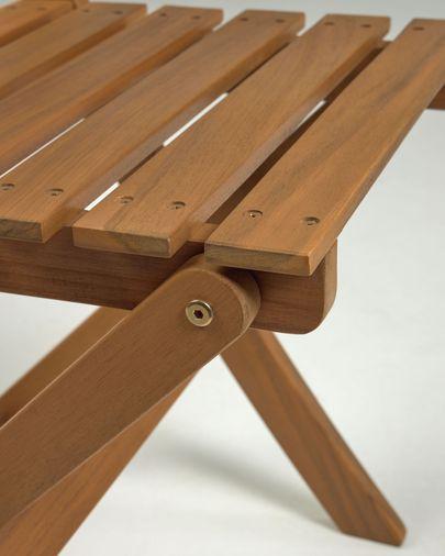 Elisia buitenset van tafel en 2 klapstoelen in massief acaciahout