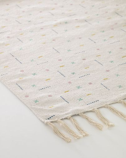 Alfombra Alannis de algodón estampada 70 x 140 cm