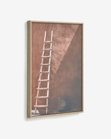 Quadro Lucie scala in legno dipinto 50 x 70 cm