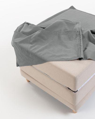 Pufe-cama Lizzie 70 x 60 (180) cm cinzento