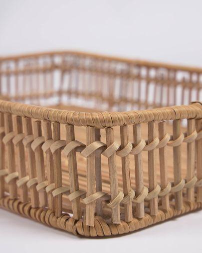 Set Coleenn de 2 bandejas rectangulares 100% ratán con acabado natural