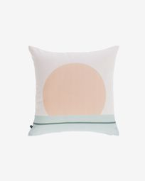 Glendale  beige cushion cover with circle 45 x 45 cm