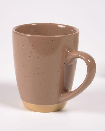 Tilla ceramic cup in light brown