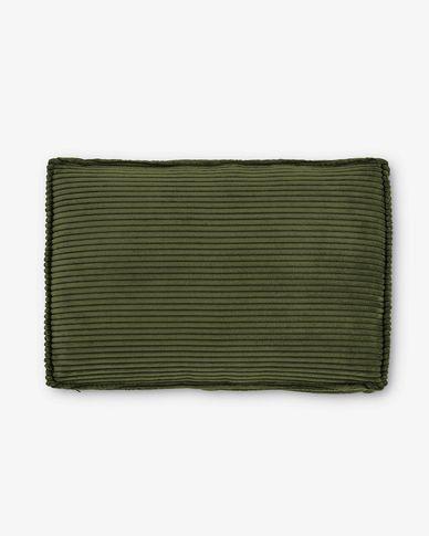 Green corduroy Blok cushion, 40 x 60cm