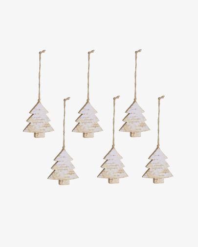Set Alira de 6 colgantes decorativos de árbol de Navidad
