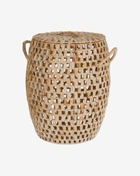 Zaya basket with handles, made from natural fibres