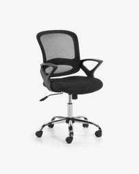 Chaise de bureau Tangier noir