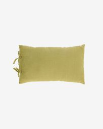 Tazu 100% linen cushion cover in green 30 x 50 cm