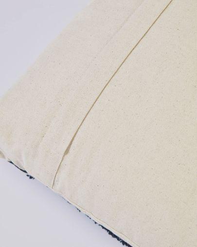 Funda cojín Margarte 100% algodón rayas blanco y negro 45 x 45 cm